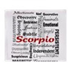 CafePress - Scorpio - Soft Fleece Throw Blanket,   http://www.xpressionportal.com/scorpio-gift-ideas/    Cool, Mysterious and Alluring Scorpio Gift Ideas  Powerful, confident and mysterious both Scorpio men and women enjoy receiving gifts.  Therefore the best Scorpio gift ideas are ones that actively play into their often dark personality.  For this reason Scorpios will enjoy gifts that stimulate the mind and arouse the senses.  Continue reading below to discover the best Scorpio zodiac gift…