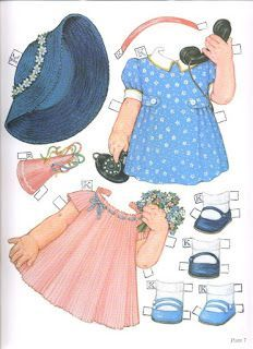 I really love Queen Holden's paper dolls. Her children are almost too cute! Here is a reprod...