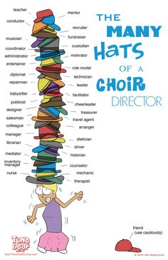 "This poster says it all. Choir directors do a lot! Get this 11"" x 17"" poster for your office today. Available in Band, Choir, and Orchestra versions, as well."