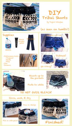 Two-tone tribal shorts DIY