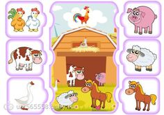3 File Folder Activities, Farm Activities, Autism Activities, English Activities, Preschool Themes, Infant Activities, Projects For Kids, Kids Crafts, Farm Animals