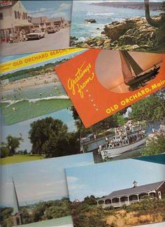 vintage postcards from Maine