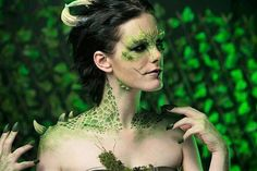 """The Lizard Queen . Prosthetics by @bfx_creatives pieces featured are The facial piece, the three…"""""""