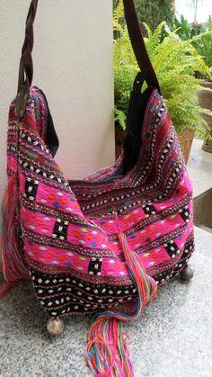Ethnic Handmade Handbags vintage fabric by shopthailand on Etsy, $179.99