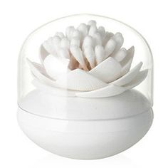 Nuliah Lotus Cotton Swab Holder, Small Q-tips Toothpicks Storage Organizer, White Nuliah http://www.amazon.com/dp/B011FRR3HO/ref=cm_sw_r_pi_dp_C6G8wb0V4G5CF