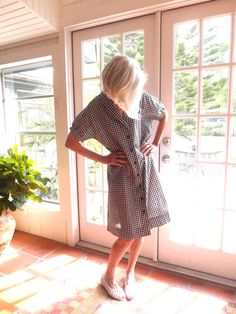SOLD! Vintage black and white checked day dress short by BopandAwe, $28.00 #vintage #vintagelove #style #fashion #daydress #homemade
