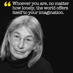 """Brain Pickings: If you treat your soul to one thing today, make it Mary Oliver's reading of """"Wild Geese"""