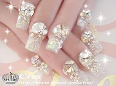 Young Chic and Social: Gyaru Nails Spam Japanese Nail Art Photos