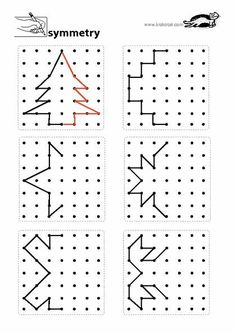Preschool Worksheets, Teaching Math, Preschool Activities, Activities For Kids, Coding For Kids, Math For Kids, Symmetry Worksheets, Visual Perceptual Activities, Material Didático