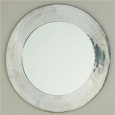 Shiny Sleek Silver Circle Mirror - Shades of Light Entry Mirror, Mirror Mirror, Dental Office Decor, Real Kitchen, Round Mirrors, Circle Mirrors, Modern Fireplace, Kids Bath, Floor Decor