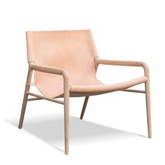 leather + natural + wood + chair + ox