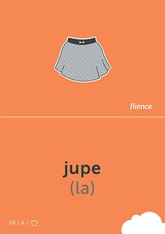 Jupe #CardFly #flience #clothes #french #education #flashcard #language