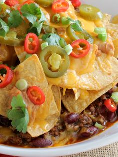 Nacho Topped Chili - great idea!  Gonna try this with my own chili recipe!
