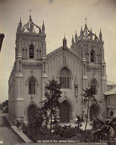 Vista de la iglesia de Santo Domingo construída después del terremoto del 3 de junio de 1863  Álbum de Filipinas     Publicación: , [ca. 1870]
