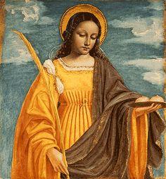 Saint Agatha, who presides over matters of health.