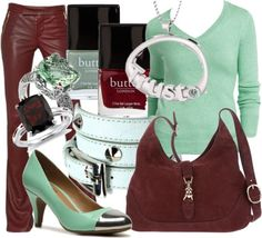 """""""Claret and Sage Trust"""" by essentialglimmer ❤ liked on Polyvore"""