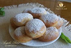 Gogosi de post Romanian Food, Romanian Recipes, Biscuit, Recipies, Food And Drink, Bread, Make It Yourself, Cooking, Chocolates