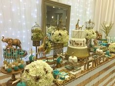 Wow! Check out this safari baby shower party! See more party planning ideas at CatchMyParty.com!