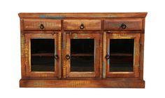 Reclaimed Handmade Distressed Vintage Wood 3-Door by Wanderloot