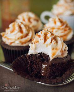 chocolate cupcakes with caramel