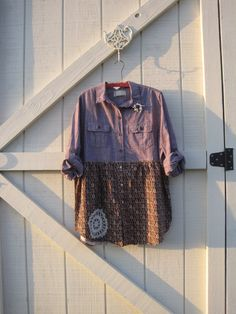 Boho dress rustic mini dress tunic dress casual by ShabyVintage, $45.90