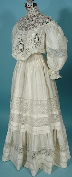 Antique Dress - I have a picture of my grandmother wearing a dress very much like this.  My daughter had a prom dress that was similar to this (my choice, of course).