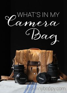What is in Unskinny Boppy's Camera Bag?