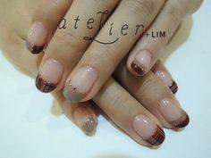 atelier+LIM hand nail / Sumally Beautiful Nail Art, Nail Arts, Cute Nails, Nail Art Designs, Nail Stuff, Beige, Beauty, Brown, Fashion