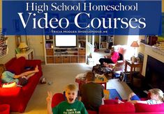 High School Homeschool Video Courses- great blog post. Tricia recommends several video programs that have worked for her family.