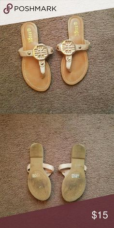 Tory Burch LOOKALIKE Sandals These are not Tory Burch but they do look like her style of sandals. No trades. Firm price. Cannot model. Worn once. Shoes Sandals