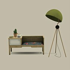 Bench Table and Floor Lamp at Leo Sims • Sims 4 Updates