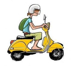 Moped Scooter, Vespa Scooters, Vespa Illustration, Vespa Px 150, Piaggio Vespa, Bike Photography, Wallpaper Stickers, Poses References, Car Drawings