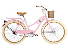 Huffy Bicycle Company Ladies Number 26655 Deluxe Cruiser Bike, 26-Inch, Rose Pink