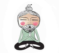 Meditation Guru Giclee Art Print Yoga Meditating Master Mentor Sage Guru Illustration Poster  ************BUY TWO LISTINGS, GET A THIRD PRINT