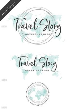 Travel Logo Aquarel Logo Premade logo Branding Package World Travel Agency Logo, Travel Logo, Watercolor Logo, Watercolor Wedding, Packaging World, Brand Packaging, Turismo Logo, Blogger Logo, Logo Voyage