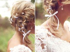 braid whimsical wedding hair
