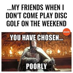 ...there's always one that misses out on the fun! #DontChoosePoorly #IndianaJones . . #DiscGolf #DUDEclothing #DiscGolfMemes#PlayDiscGolf