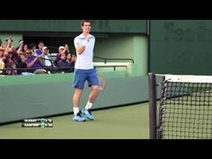 HEAD presents: Andy Murray surprises crowd and commentators! Tennis Videos, Andy Murray, The Marketing, Crowd, Presents, Running, Gifts, Keep Running, Why I Run