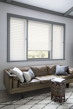 "21/2"" Sheer Shadings in Herringbone/Soft White 16139 with White Decorative Cassette and Power Lift  #Shades #Sheer #Smithandnoble"