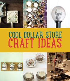 Dollar store crafts that are too adorable. Can't wait to give these cool DIY craft ideas a go! http://diyready.com/dollar-store-crafts/