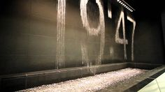 Waterfall Graphic Print [Osaka Station City] to site to watch video. Water Wall Fountain, Water Fountain Design, Osaka, Magic Eye Pictures, Water Clock, Interactive Walls, Around The World In 80 Days, Water Walls, Kinetic Art