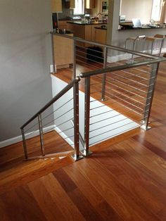stainlesssteel square posts with our cable railing system