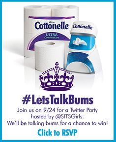 "#LetsTalkBums! One lucky winner will snag a $500.00 VISA gift card so that they may transform their bathroom to something ""fit for a queen.""  #ad"