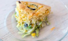 Cottage cheese soufflé. With eggs and veggies and sausage or bacon, etc.