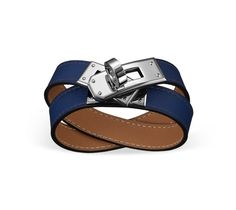 hermes for sale  - Rivale Double Tour Hermes leather bracelet (size XS) Anemone swift ...