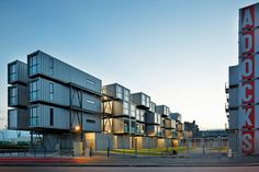 large shipping container apartment complex