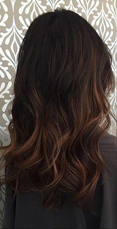 subtle brunette balayage highlights