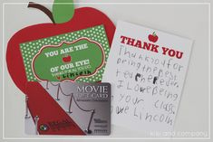 You are the apple of my eye teacher appreciation printable   Skip To My Lou
