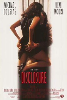 DISCLOSURE (1994) - Michael Douglas - Demi Moore - Directed by Barry Levinson - Warner Bros. - Movie Poster