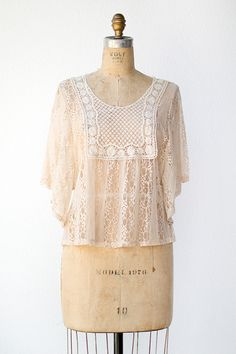 cream lace blouse   Aventine Lace Top $38